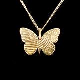 14K gouden vlinder hanger met vingerafdruk