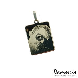 Gouden hanger met foto 14K 25x20mm- Damarris